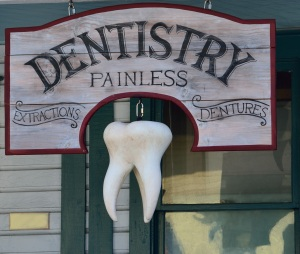 Dentist visits are painless