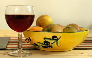 Sweet homemade blackberry wine