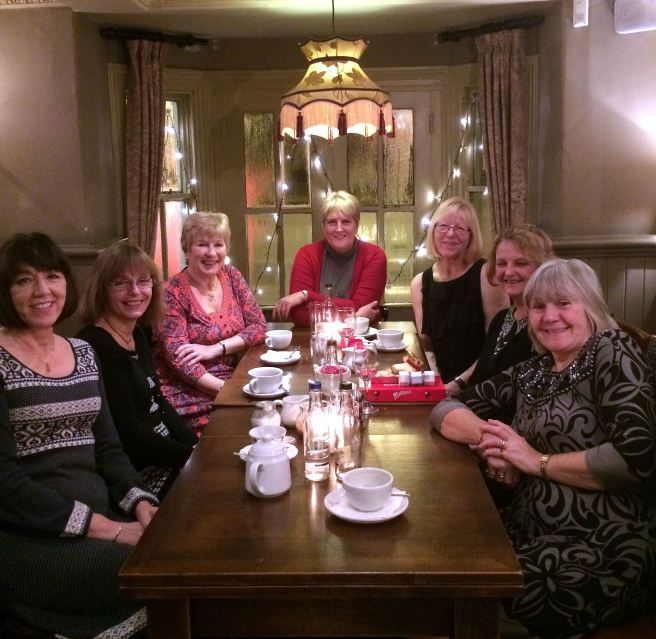 A Grand Old Group of Girls on a Christmas Night Out,, December 2014