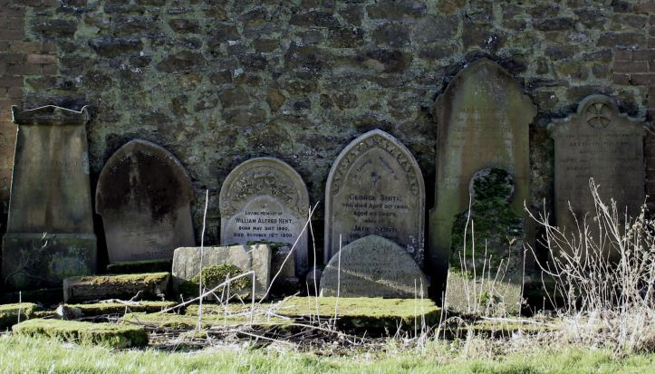 Old headstones, Ludford church