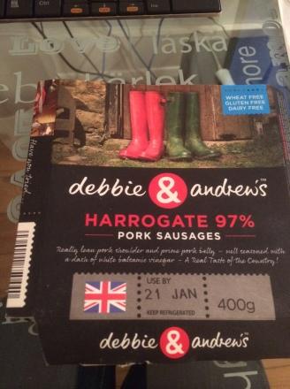Debbie & Andrew's Very Salty Harrogate 97% Pork Sausages