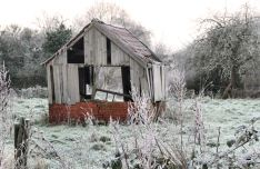 Old shed on Frosty Morning 21st January 2016