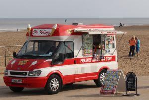Seaside ice cream van