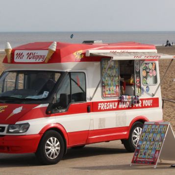 Seaside ice cream van