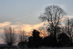 Sunrise over the farm on frosty morning 21st January 2016