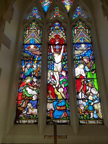 Henry and Maria Thorold's stained glass window at Cuxwold Church