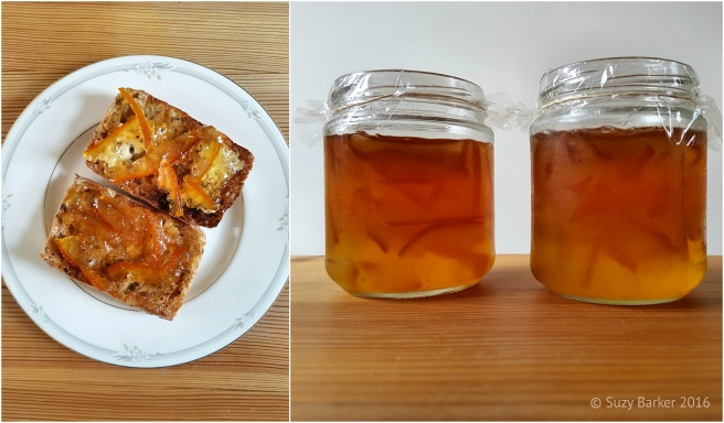 Toast and Homemade Orange Marmalade