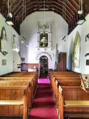 Simple interior of St Nicholas' church , Cuxwold