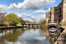 Newark Castle and the seven arched Trent Bridge