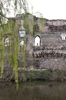 Newark Castle ruins overlooking the River Trent