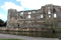Newark Castle ruins from the River Trent