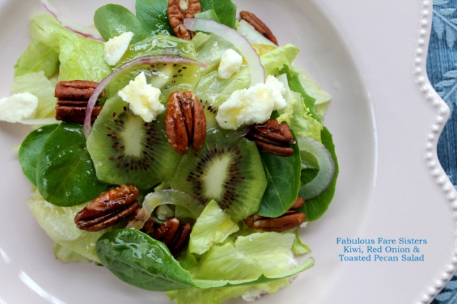 Kiwi, Red Onion & Toasted Pecan Salad