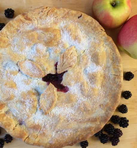 Gluten-free blackberry and apple pie