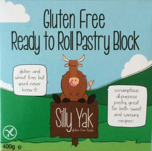 Gluten-free ready to roll pastry from Silly Yak